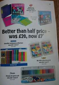 Heads Up - Tesco Summer Stationery Sale Starts 29/07/15, Great deals like Sharpie 28-Piece Permanent Marker Set - £7, Casio FX83 - £4.50, Staedtler Stationary Set - £2.50, Many more; all half prce or less