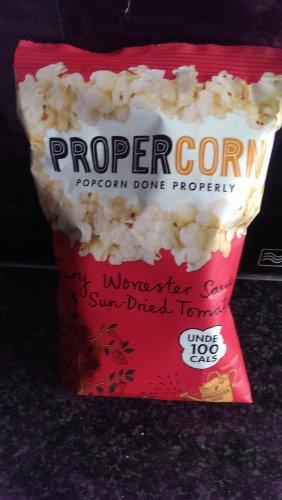 Propercorn Fiery Worcester Sauce & Sun-Dried Tomato Popcorn (20g bag) 20p tescoexpress