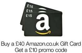 Buy £40 Amazon Gift Card Get £10 Free (eligible customers only)