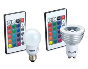 Colour Changing Bulbs from 30/07/2015 £7.99 at ALDI.