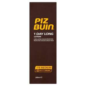 Piz Buin All Day 15 spf Suncream 200mls £7.34 (Prime) £12.35 (non prime) Sold by Mad 2 Save and Fulfilled by Amazon