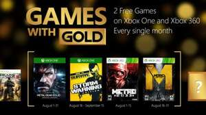 Games With Gold - August @ Xbox.com Includes Metal Gear Solid V: Ground Zeroes & Metro: Last Light