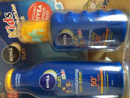 nivea sun cream twin pack with beachball £10 at tesco