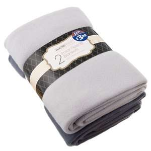 2 x Polar Fleece Throws £3.99 @ B & M