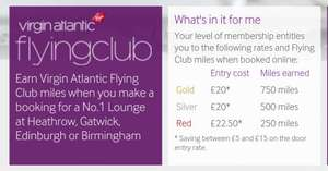 No1 traveller airport lounges up to £15 off (£22.50 Heathrow T3) @ NO1 TRAVELLER WITH VIRGIN FLYING CLUB