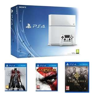 PS4 White, Bloodborne, God of War Remastered and The Order:1886 £289 @ Amazon