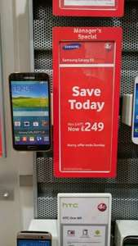 Samsung Galaxy S5 - £249 on Vodafone PAYT