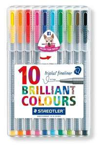 Staedtler Triplus Fineliner 334 SB10 Tips Desktop Box - Assorted Colours (Pack of 10) £3.50 @ Amazon (add-on item)