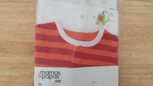 Mamas & Papas 3 baby grows  boys or girls £7.00 @ Fenwick  Newcastle