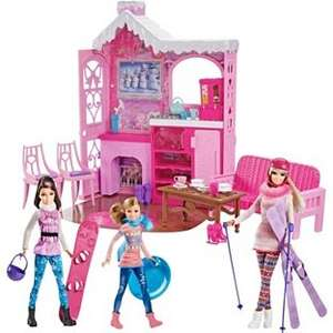 Barbie ski chalet with 3 dolls £19.99 @ Argos