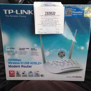 tp-link td-w8968 300Mbps Wireless N ADSL2+ Modem Router with USB Port £7.25 @ Tesco instore