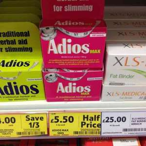 Adios Max 100S Half Price Was £11.00 Now £5.50 @ Tesco
