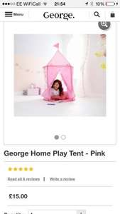 George Kids Pink Pop up Play Tent £4.00 @ Asda instore