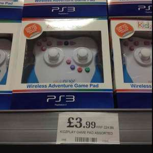 kidzplay wireless PS3 controller for children £3.99 at Home Bargains