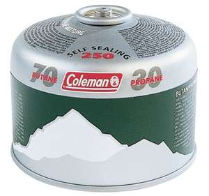 Coleman C250 Camping Gas Cartridge £3.59 delivered OR £3.21 if you buy 5! @ CPC