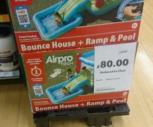 Airpro tech bouncy castle, slide, pool and built in inflate fan £80 @ Tesco (in store only)