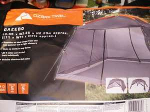 ozark trail gazebo with 4 sides (mesh) 11'x11'x7' £12 in store at asda
