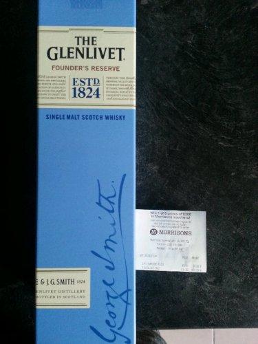 Glenlivet Founder's Reserve Single Malt £22 @ Morrisons