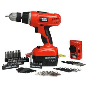Black & Decker 14.4V Cordless Hammer Drill Bundle Tesco £42 (£32 with Clubcard Boost)