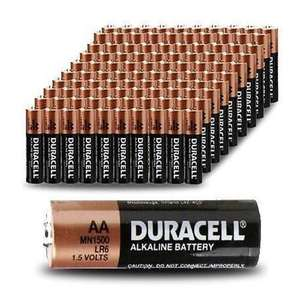 128 Duracell batteries AA £26.99 free p&p @ Bigpockets