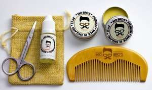 Mo Bro's Grooming Kit- Moustache Wax, Beard Balm, Oil, Comb, Scissors & Gift Bag £9.99 Delivered Ebay/Health-expert