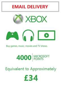 2 x  4000  Xbox live points £68 worth for £45.98 @ rakuten / mspoints (email delivery)