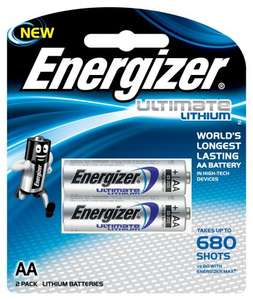 Tesco Metro - Energizer Ultimate Lithium AA Batteries 2 pack £1