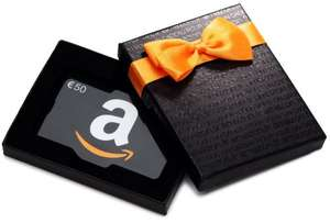 buy 50 euros Gift Card/Voucher and receive a 10 euros on Amazon.fr