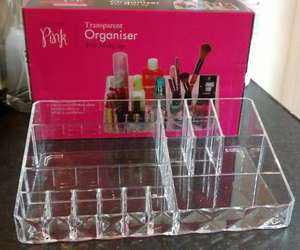 Transparent Makeup Organiser £4.99 @ Home Bargains