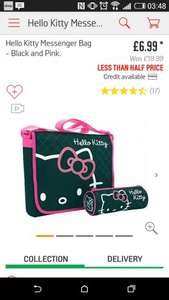 Hello Kitty Messenger school bag and pencil case £6.99 @ Argos