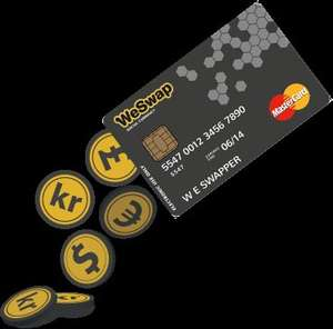 Sign up for your free WeSwap Prepaid MasterCard today and enjoy £10 free on your first load of £100 or more,+Possible £10.50 TCB.