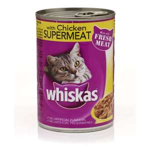 Whiskas Supermeat Cat Food Chicken 390g £0.01 @ Wilko