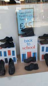 Clarks School leather shoes girls/boys All sizes in Clarks Shoes - Factory Shop £15 pair when you buy 3 pairs