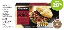 LIDL Award Winning Braemoor Pulled Pork - £1.99 - 380g (Was £2.49) - With Smoky Hickory BBQ Sauce or Sweet Apple Sauce - From 13th Aug