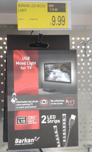 LED TV backlighting £9.99 (B&M Stores)