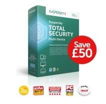 Kaspersky Total Internet Security Multi Device 3 user 1 year £9.99