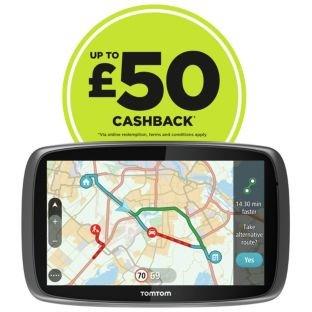 Sat nav, TomTom GO 6100, 6 Inch Lifetime Maps & Traffic Worldwide. £279.99 @ Argos, plus £50 cashback too