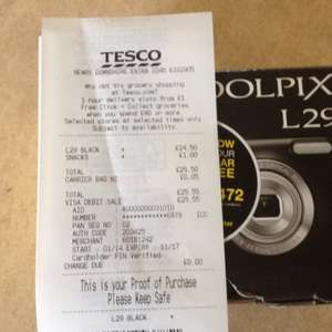 Coolpix l29 camera £24.50 @ Tesco (Newry)