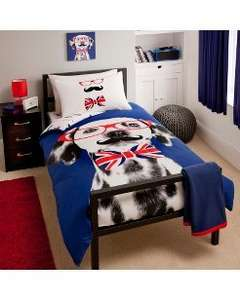 George Home Dalmatian Duvet Set - Double £3.75 & free click and collect @ asda