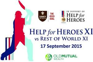 Help For Heroes twenty twenty Night Cricket Match £20 at Kennington Oval on thursday 17th of september big international players playing