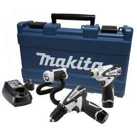 Makita DK1486W 10.8V 1.3Ah Li-Ion Cordless Triple Pack £138 @ PAM Ties