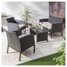 Marrakech 4-piece Rattan Garden Furniture Set £175 at Tesco Direct