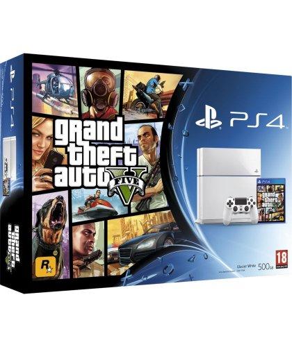 (clearance) White PS4 GTAV Bundle £284.99 @ Argos + £10 voucher