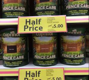 Cuprinol fence care only £5.00 @ Tesco instore