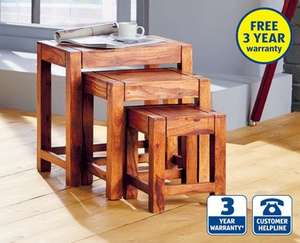 Nest of Tables Hardwood £39.99 at ALDI