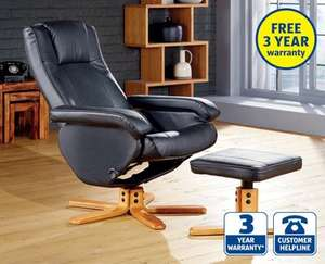 Leather Chair with Footstool £99.99 at ALDI