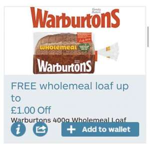 EXPIRED FREE Warburtons loaf with MyMail coupon.