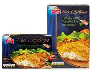 Northern Catch Lightly Dusted Yellowfin Sole Fillets (75%)  (250g) ONLY £1.69 @ Aldi