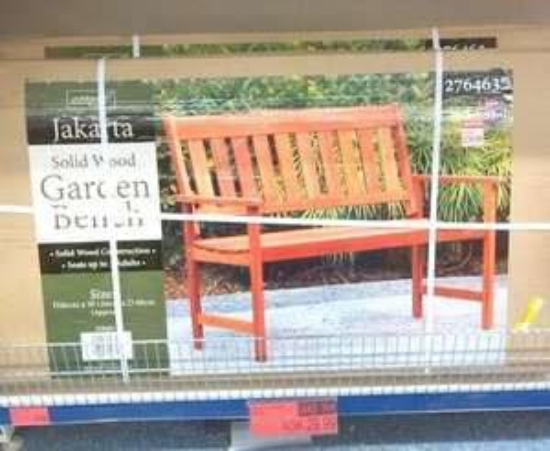 Solid Wood Jakarta Garden Bench Now £29.99 @ B&M