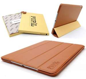 iPad Air 2 Smart Four-Fold Case Cover By PUPiL of Cambridge, England Handmade Genuine Leather (Whisky - Light Brown) £4.95 delivered @ iZilla / Amazon